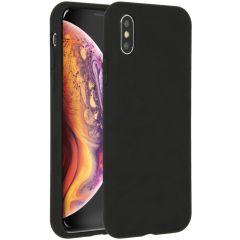 Accezz Liquid Silikoncase Schwarz für das iPhone Xs / X