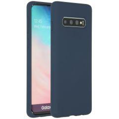 Accezz Liquid Silikoncase Blau für das Samsung Galaxy S10