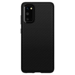 Spigen Liquid Air™ Case Schwarz für das Samsung Galaxy S20