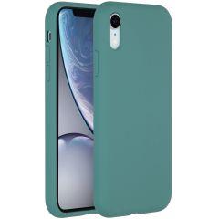 Accezz Liquid Silikoncase Dunkelgrün für das iPhone Xr