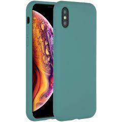 Accezz Liquid Silikoncase Dunkelgrün für das iPhone Xs / X