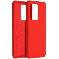 Accezz Liquid Silikoncase Rot für das Samsung Galaxy S20 Ultra