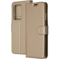 Accezz Wallet TPU Booklet Gold für das Samsung Galaxy S20 Ultra