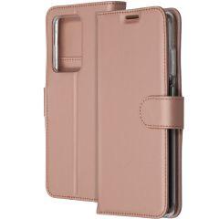 Accezz Wallet TPU Booklet Roségold für das Samsung Galaxy S20 Ultra