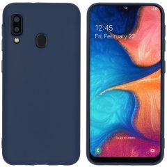 iMoshion Color TPU Hülle Dunkelblau für Samsung Galaxy A20e