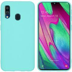 iMoshion Color TPU Hülle Mintgrün für Samsung Galaxy A40