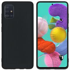 iMoshion Color TPU Hülle Schwarz für Samsung Galaxy A51