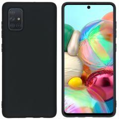 iMoshion Color TPU Hülle Schwarz für Samsung Galaxy A71