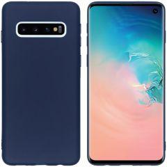 iMoshion Color TPU Hülle Dunkelblau für Samsung Galaxy S10
