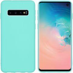 iMoshion Color TPU Hülle Mintgrün für Samsung Galaxy S10