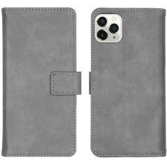 iMoshion Luxus Booktype Hülle Grau für das iPhone 11 Pro Max