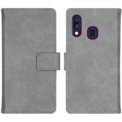 iMoshion Luxus Booktype Hülle Grau für das Samsung Galaxy A40