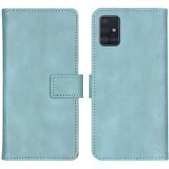 iMoshion Luxuriöse Buchtyp-Hülle Hellblau für das Samsung Galaxy A51