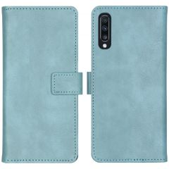 iMoshion Luxus Booktype Hülle Hellblau für Samsung Galaxy A70