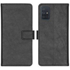 iMoshion Luxuriöse Buchtyp-Hülle Schwarz für das Samsung Galaxy A71