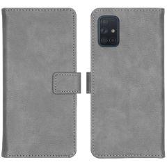 iMoshion Luxuriöse Buchtyp-Hülle Grau für das Samsung Galaxy A71