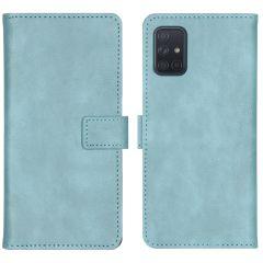 iMoshion Luxuriöse Buchtyp-Hülle Hellblau für das Samsung Galaxy A71
