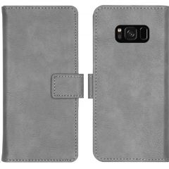 iMoshion Luxus Booktype Hülle Grau für das Samsung Galaxy S8