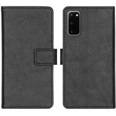 iMoshion Luxuriöse Buchtyp-Hülle Schwarz für das Samsung Galaxy S20