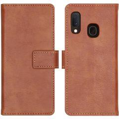 iMoshion Luxus Booktype Hülle in Lederoptik Braun Samsung Galaxy A20e