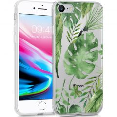 iMoshion Design Hülle iPhone SE (2020) / 8 / 7 / 6s - Blätter - Grün