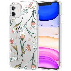 iMoshion Design Hülle iPhone 11 - Blume - Rosa / Grün
