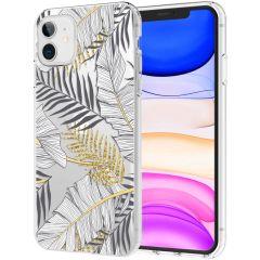 iMoshion Design Hülle iPhone 11 - Blätter - Schwarz / Gold