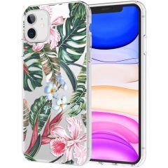 iMoshion Design Hülle iPhone 11 - Dschungel - Grün / Rosa