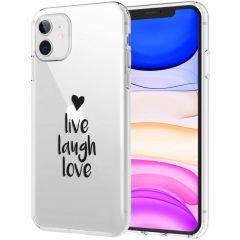 iMoshion Design Hülle iPhone 11 - Live Laugh Love - Schwarz