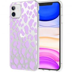 iMoshion Design Hülle iPhone 11 - Leopard - Lila