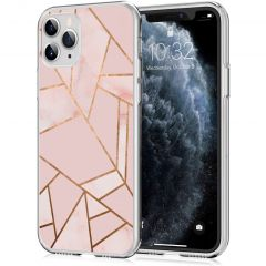 iMoshion Design Hülle iPhone 11 Pro - Grafik-Kupfer - Rosa / Gold