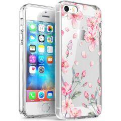 iMoshion Design Hülle iPhone 5 / 5s / SE - Blume - Rosa