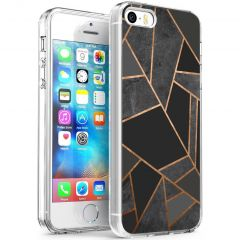 iMoshion Design Hülle iPhone 5 / 5s / SE - Grafik-Kupfer - Schwarz