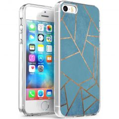 iMoshion Design Hülle iPhone 5 / 5s / SE - Grafik-Kupfer - Blau