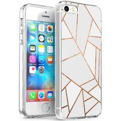 iMoshion Design Hülle iPhone 5 / 5s / SE - Grafik-Kupfer - Weiß