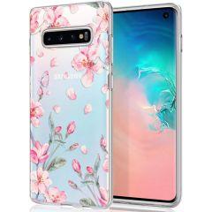 iMoshion Design Hülle Samsung Galaxy S10 - Blume - Rosa