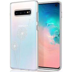 iMoshion Design Hülle Samsung Galaxy S10 - Pusteblume - Weiß