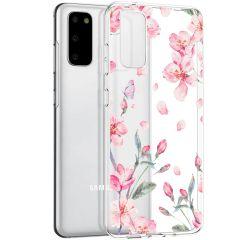 iMoshion Design Hülle Samsung Galaxy S20 - Blume - Rosa