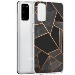 iMoshion Design Hülle Galaxy S20 - Grafik-Kupfer - Schwarz / Gold