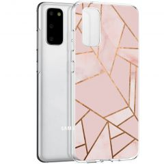 iMoshion Design Hülle Galaxy S20 - Grafik-Kupfer - Rosa / Gold