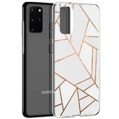 iMoshion Design Hülle Galaxy S20 Plus - Grafik-Kupfer - Weiß / Gold