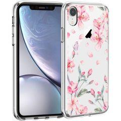 iMoshion Design Hülle iPhone Xr - Blume - Rosa