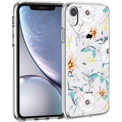 iMoshion Design Hülle iPhone Xr - Blume - Weiß