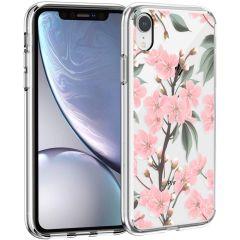 iMoshion Design Hülle iPhone Xr - Blume - Rosa / Grün