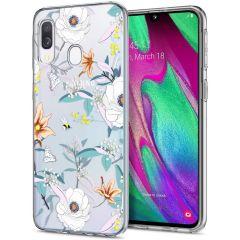 iMoshion Design Hülle Samsung Galaxy A20e - Blume - Weiß