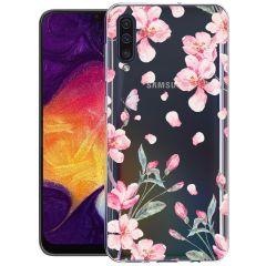 iMoshion Design Hülle Samsung Galaxy A50 / A30s - Blume - Rosa