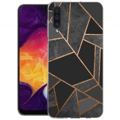iMoshion Design Hülle Galaxy A50 / A30s - Grafik-Kupfer - Schwarz