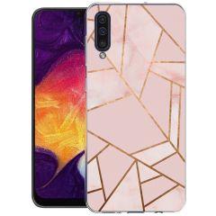 iMoshion Design Hülle Galaxy A50 / A30s - Grafik-Kupfer - Rosa / Gold