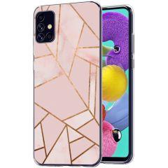 iMoshion Design Hülle Galaxy A51 - Grafik-Kupfer - Rosa / Gold
