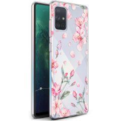 iMoshion Design Hülle Samsung Galaxy A71 - Blume - Rosa